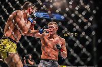 NOVA YORK, EUA, 02.11.2019 - UFC-NOVA YORK - Stephen Thompson  (vermelho) e Vicente Luque (azul) durante UFC 244 no Madison Square Garden na cidade de Nova York neste sábado, 02 novembro. (Foto: Vanessa Carvalho/Brazil Photo Press/Folhapress)
