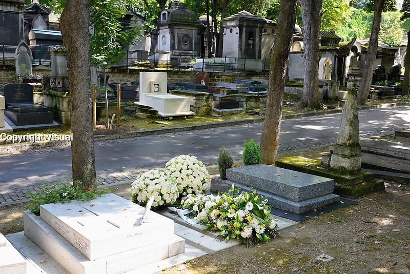 Sepulture de Jeanne Moreau au cimetiere de Montmartre - les obseques ont eu lieu le 7 aout 2017 dans l'intimite - Paris - France