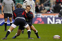 Twickenham, GREAT BRITAIN, Jonny WILKINSON, warms up before the game between, England vs Scotland, Calcutta Cup Rugby match played at the  RFU Twickenham Stadium on Sat 03.02.2007  [Photo, Peter Spurrier/Intersport-images].....