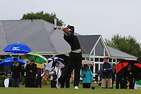 Luke Donnelly (Mount Juliet) on the 1st tee during the Final round of the Irish Mixed Foursomes Leinster Final at Millicent Golf Club, Clane, Co. Kildare. 06/08/2017<br /> Picture: Golffile | Thos Caffrey<br /> <br /> <br /> All photo usage must carry mandatory copyright credit      (&copy; Golffile | Thos Caffrey)