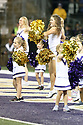 SEATTLE, WA - September 07:  Washington cheer members and pup squad cheerleaders entertained fans during the college football game between the Washington Huskies and the California Bears on September 07, 2019 at Husky Stadium in Seattle, WA. Jesse Beals / www.Olympicphotogroup.com