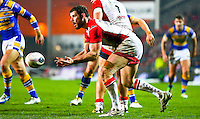 Picture by Alex Whitehead/SWpix.com - 28/03/2014 - Rugby League - First Utility Super League - St Helens v Leeds Rhinos - Langtree Park , St Helens, England - St Helens' Paul Wellens in action as he equals the Super League appearance record during his 413th game.