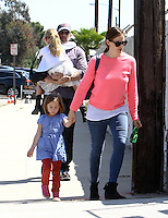 Jennifer Garner, Ben Affleck & their kids in Los Angeles