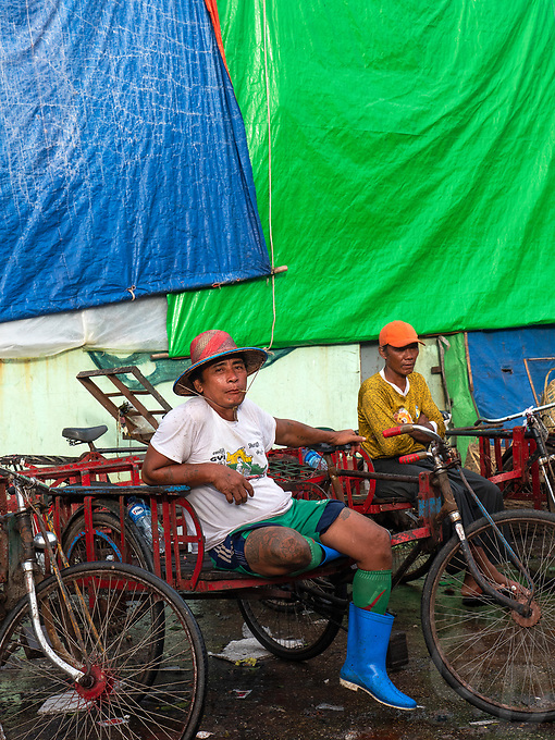 Life at the whole sale vegetable Market in Yangon, Myanmar, Burma