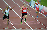 Wales David Guest in action during tonights race<br /> <br /> Photographer Ian Cook/Sportingwales<br /> <br /> 20th Commonwealth Games - Athletics  -  Day 5 - Monday 28th July 2014 - Glasgow - UK