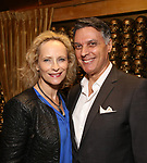 Laila Robins and Robert Cuccioli attends the Album Launch Party for 'Angels' at the The Gold Bar on October 25, 2017 in New York City.