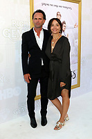 "LOS ANGELES - JUL 25:   Walton Goggins, Nadia Conners at the ""The Righteous Gemstones"" Premiere Screening at the Paramount Theater on July 25, 2019 in Los Angeles, CA"