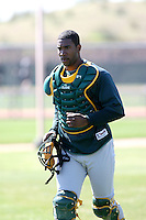 Yusuf Carter, Oakland Athletics 2010 minor league spring training..Photo by:  Bill Mitchell/Four Seam Images.
