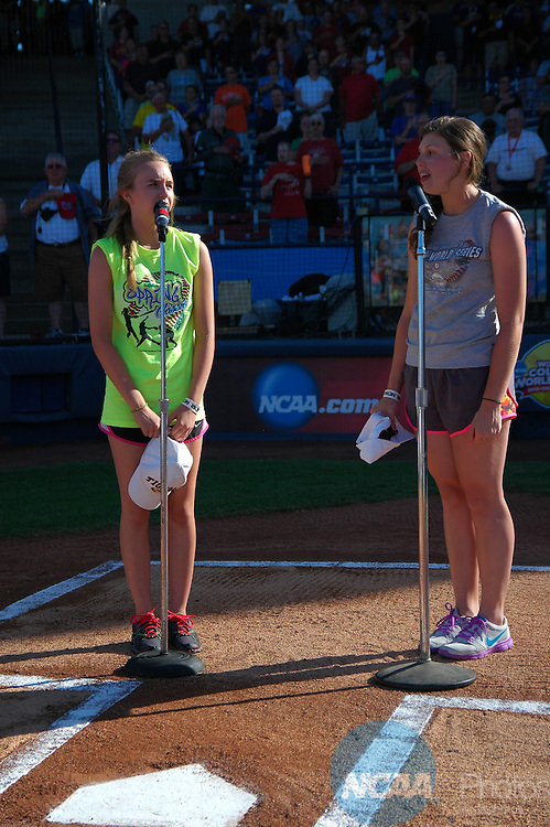 01 JUNE 2013:  The University of Florida takes on the University of Nebraska during the Division I Women's Softball World Series held at ASA Hall of Fame Stadium in Oklahoma City, OK. Florida defeated Nebraska 9-8 in 15 innings.  Nick Oxford/NCAA Photos