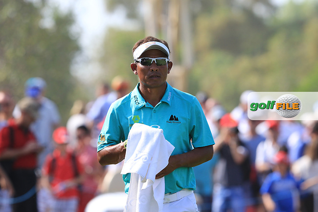 Thongchai Jaidee (THA) on the 9th during Round 3 of the DP World Tour Championship at the Earth course,  Jumeirah Golf Estates in Dubai, UAE,  21/11/2015.<br /> Picture: Golffile   Thos Caffrey<br /> <br /> All photo usage must carry mandatory copyright credit (&copy; Golffile   Thos Caffrey)
