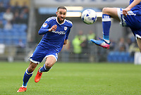 Jazz Richards of Cardiff City chases after the ball during the Sky Bet Championship match between Cardiff City and Ipswich Town at The Cardiff City Stadium, Cardiff, Wales, UK. Saturday 18 March 2017