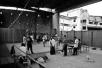 Artists are rehearsing on the stage of the Preah Suramarith theatre. Phnom penh-2005
