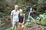 A little waterfall and us near Ryan's house