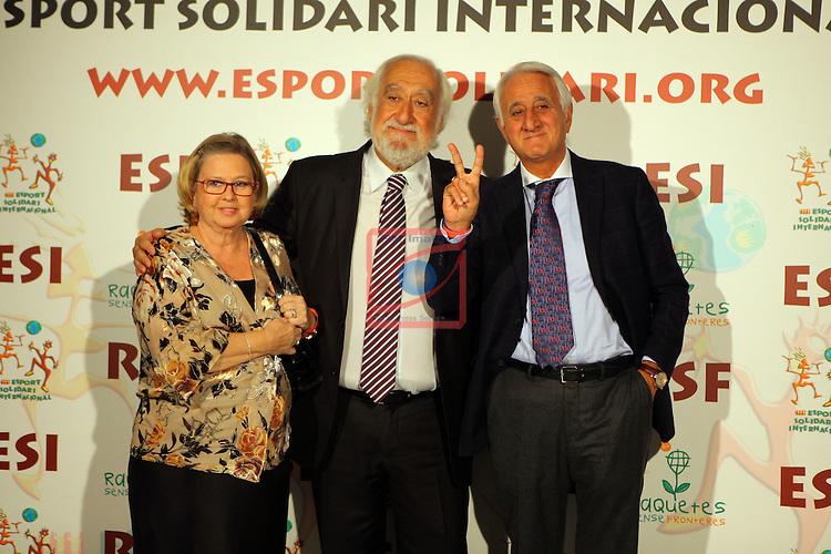 XIe Sopar Solidari d'ESI (Esport Solidari Internacional).<br /> Josep Maldonado, Jose Luis Carazo &amp; Sra..