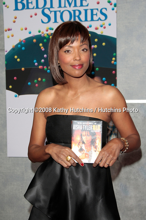 "Aisha Tyler arriving at the  Premiere of ""Bedtime Stories"" at the El Capitan Theater in Los Angeles, CA on December 18, 2008.©2008 Kathy Hutchins / Hutchins Photo..                ."