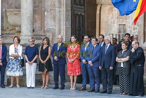 SAN MILLAN DE LA COGOLLA, SPAIN - JULY 05: Queen Letizia Of Spain attends the closure of the seminar 'Heritage Education In The School' at the International Center of the Spanish language in La Rioja on July 05, 2019 in San Millan de la Cogolla, La Rioja, Spain.  ***NO SPAIN***<br /> CAP/MPI/RJO<br /> ©RJO/MPI/Capital Pictures