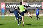 Hoffenheims Ermin Bicakcic (Nr.4) gegen Hoffenheims Adam Szalai (Nr.28)  beim Training in der Bundesliga der TSG 1899 Hoffenheim.<br /> <br /> Foto &copy; PIX-Sportfotos *** Foto ist honorarpflichtig! *** Auf Anfrage in hoeherer Qualitaet/Aufloesung. Belegexemplar erbeten. Veroeffentlichung ausschliesslich fuer journalistisch-publizistische Zwecke. For editorial use only.