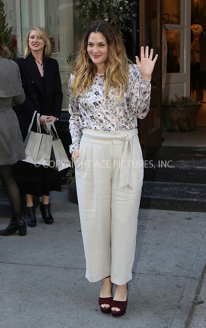 WWW.ACEPIXS.COM<br /> <br /> December 16 2015, New York City<br /> <br /> Actress Drew Barrymore arrives at Club Monaco on Fifth Avenue to sign copies of her new book 'Wildflower' on December 16 2015 in New York City<br /> <br /> By Line: Zelig Shaul/ACE Pictures<br /> <br /> <br /> ACE Pictures, Inc.<br /> tel: 646 769 0430<br /> Email: info@acepixs.com<br /> www.acepixs.com