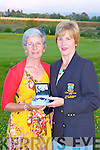 Castleisland Golf club Lady president Ann Stuart presents the winner of her Presidents prize to Margaret Curtin with a Gretta Garbo Newbridge bracelet and Jewellery cabinet