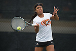 April 22, 2015; San Diego, CA, USA; Pacific Tigers tennis player Regina Suarez during the WCC Tennis Championships at Barnes Tennis Center.