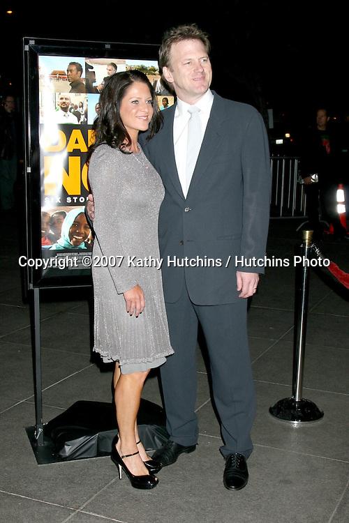 "Cathy Schulman & Ted Braun.""Darfur Now"" Screening.Director's Guild of Ameria.Los Angeles, CA.October 30, 2007.©2007 Kathy Hutchins / Hutchins Photo...               ."