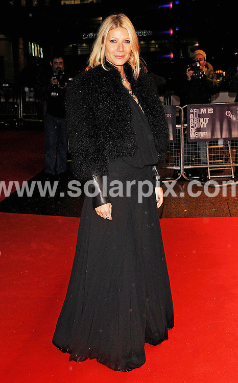 **ALL ROUND PICTURES FROM SOLARPIX.COM**.**WORLDWIDE SYNDICATION RIGHTS**.Red carpet arrivals at the premiere of Two Lovers.  Held at the Odeon West End, Leicester Square, London.  .This Pic:Gwyneth Paltrow..JOB REF: 7643      SSD     DATE:20.10.08.**MUST CREDIT SOLARPIX.COM OR DOUBLE FEE WILL BE CHARGED* *UNDER NO CIRCUMSTANCES IS THIS IMAGE TO BE REPRODUCED FOR ANY ONLINE EDITION WITHOUT PRIOR PERMISSION*
