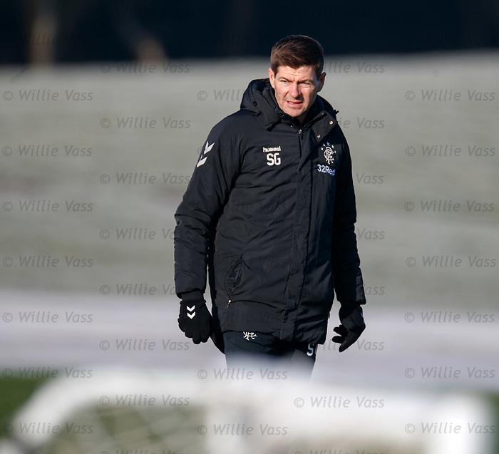 01.02.2019: Rangers training: Steven Gerrard