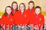 Enjoying the Killarney Credit Union National Schools quiz in the Gleneagle hotel, Killarney on Sunday were Shauna Moynihan, Rebecca Lee, Rachel Harrison, Karen O'Donoghue and Abbey Ring, Holy Cross Mercy School, Killarney.