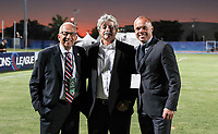 GEORGETOWN, GRAND CAYMAN, CAYMAN ISLANDS - NOVEMBER 19: Carlos Cordeiro and Earnie Stewart of the United States during a game between Cuba and USMNT at Truman Bodden Sports Complex on November 19, 2019 in Georgetown, Grand Cayman.