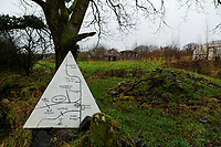 Pictured: A map in Lammas village. Friday 05 January 2017<br /> Re: A house that was featured in Channel 4 programme Grand Designs has been destroyed in a fire. The house, owned by Simon and Jasmine Dale is located at the Lammas Eco village near Glandwr in west Wales, UK.