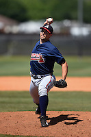 Atlanta Braves pitcher Caleb Dirks (70) during a minor league spring training game against the Houston Astros on March 29, 2015 at the Osceola County Stadium Complex in Kissimmee, Florida.  (Mike Janes/Four Seam Images)