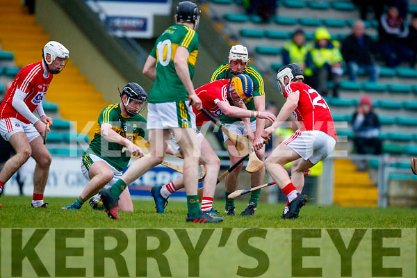 Kerry  in action against  Cork in the Co-op Superstores Munster Senior Hurling League on Sunday 14th January in Austin Stack Park, Tralee.