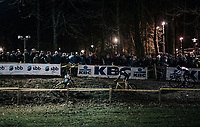 Quinten Hermans (BEL/Telenet Fidea Lions) slipping down<br /> <br /> Elite Men's Race<br /> Superprestige Diegem / Belgium 2017