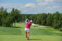 Shanshan Feng (CHN) watches her tee shot on 2 during Saturday's third round of the 72nd U.S. Women's Open Championship, at Trump National Golf Club, Bedminster, New Jersey. 7/15/2017.<br /> Picture: Golffile | Ken Murray<br /> <br /> <br /> All photo usage must carry mandatory copyright credit (&copy; Golffile | Ken Murray)