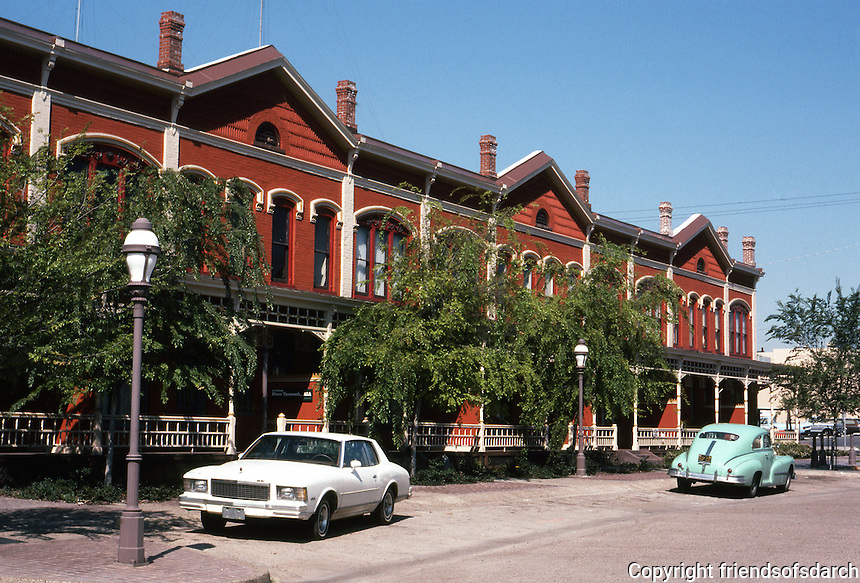 San Diego: Kimball Block (Brick Row), National City, NRHP '73. Late Victorian. (Photo '82)