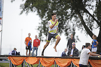 FIERLJEPPEN/POLSSTOKVERSPRINGEN: 03-09-2016, Linschoten, Pollepleats Nationale Competitie, Bart Helmholt, ©foto Martin de Jong