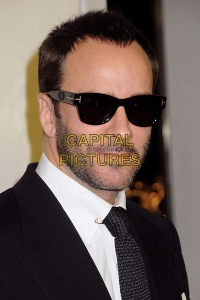 Tom Ford.Tom Ford Cocktail Party held at the Tom Ford Store, Beverly Hills, California, USA..February 21st, 2013.headshot portrait black suit white tie shirt sunglasses shades stubble facial hair .CAP/ADM/BP.©Byron Purvis/AdMedia/Capital Pictures.