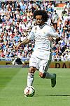 Real Madrid´s Marcelo Vieira during 2014-15 La Liga match between Real Madrid and Eibar at Santiago Bernabeu stadium in Madrid, Spain. April 11, 2015. (ALTERPHOTOS/Luis Fernandez)