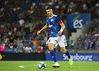 Stefan Mitrovic (Racing Club de Strasbourg Alsace) - 22.08.2019: Racing Straßburg vs. Eintracht Frankfurt, UEFA Europa League, Qualifikation, Commerzbank Arena<br /> DISCLAIMER: DFL regulations prohibit any use of photographs as image sequences and/or quasi-video.
