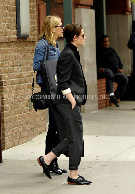 ACEPIXS.COM<br /> <br /> October 7 2014, New York City<br /> <br /> Actress Kristen Stewart leaves a downtown hotel on October 7 2014 in New York City<br /> <br /> By Line: Curtis Means/ACE Pictures<br /> <br /> ACE Pictures, Inc.<br /> www.acepixs.com<br /> Email: info@acepixs.com<br /> Tel: 646 769 0430