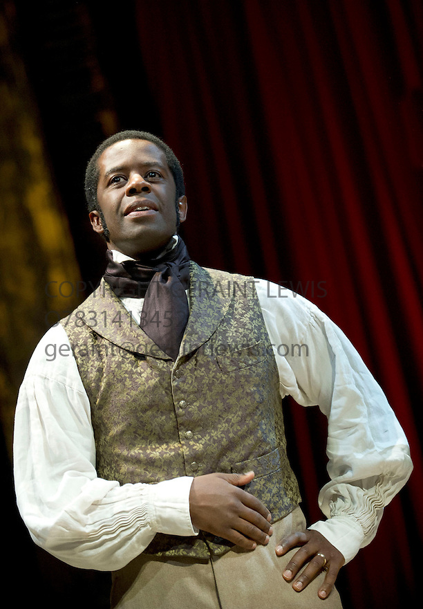Red Velvet by Lolita Chakrabarti, directed by Indhu Rubasingham. With Adrian Lester as Ira Aldridge. Opens at The Tricycle Theatre on 16/10/12.  CREDIT Geraint Lewis