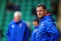 Bath Rugby Head Coach Tabai Matson looks on during the pre-match warm-up. Aviva Premiership match, between Northampton Saints and Bath Rugby on September 3, 2016 at Franklin's Gardens in Northampton, England. Photo by: Patrick Khachfe / Onside Images