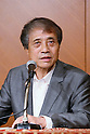 Tadao Ando, JULY 16, 2015 : World-renowned architect Tadao Ando attends a news conference about the Tokyo 2020 Olympic stadium design in Tokyo on July 16, 2015. Ando chaired the committee that originally selected Zaha Hadid's design for the new Stadium, and this decision has been questioned recently because of the rising costs of the project. The design had an original construction budget of 162.5 billion Yen but costs are now expected to be 252 billion Yen. (Photo by Yohei Osada/AFLO SPORT)