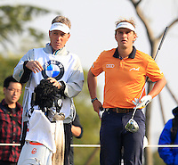 Joost Luiten (NED) on the 16th tee during Sunday's Final Round of the 2014 BMW Masters held at Lake Malaren, Shanghai, China. 2nd November 2014.<br /> Picture: Eoin Clarke www.golffile.ie