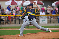 Beloit Snappers Evan Manarino (26) throws during the Midwest League game against the Clinton LumberKings at Ashford University Field on June 12, 2016 in Clinton, Iowa.  The LumberKings won 1-0.  (Dennis Hubbard/Four Seam Images)