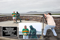 Don MacMonagle photographs Mick O'Dwyer at his statue for a personal portrait in 2012<br /> Picture by Don macMonagle