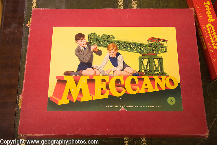 Boxed set of antique Meccano set toy, UK