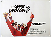 BNPS.co.uk (01202 558833)<br /> Pic: Ewbanks/BNPS<br /> <br /> Escape to Victory. <br /> <br /> Original Artists...<br /> <br /> Unique hand-painted artwork for classic movie posters from the halcyon days of the silver screen have been uncovered.<br /> <br /> The 150 designs were produced by W. E. Berry Ltd of Bradford, West Yorks, who were industry leaders in poster design for more than 75 years.<br /> <br /> Included in the sale are posters advertising British classic movies like Carve Her Name With Pride, The Titfield Thunderbolt and The Ladykillers.<br /> <br /> They belong to the family of William Edward Berry but they have now made them available for sale for the first time. The are expected to sell for £10,000.