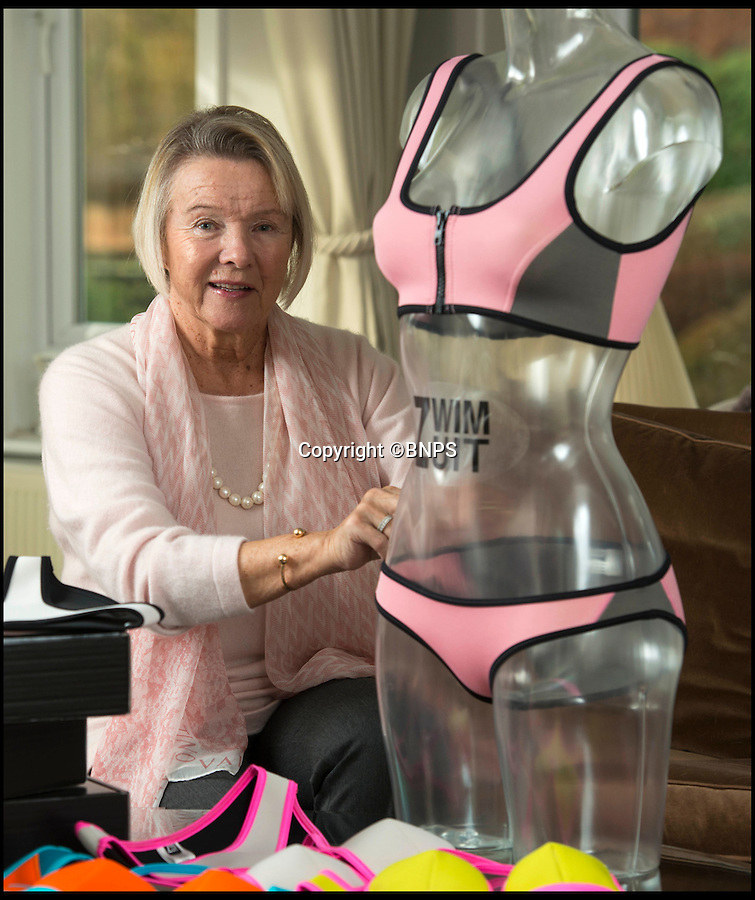 BNPS.co.uk (01202 558833)<br /> Pic: TomWren/BNPS<br /> <br /> Cherry Harker.<br /> <br /> While most people her age are enjoying retirement, 'older-preneur' Cherry Harker has launched a new swimwear brand for the active beach babe.<br /> <br /> In her youth Cherry, 76, knew all too well the perils of wardrobe malfunctions from trying to do watersports in a bikini while on holiday in glamorous resorts like Monaco, Cannes and St Tropez.<br /> <br /> But it wasn't until she got bored in her senior years that the impressive septuagenarian, who has already beaten breast and cervical cancer, decided to tackle the problem for the sporty beachgoer.<br /> <br /> ZwimZuit is a range of bold, panelled bikinis made from high quality neoprene, the material used to make wetsuits, and Cherry says her bikinis stay in place no matter what you do.