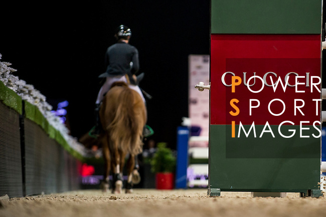 Constant Van Paesschen of Belgium riding Citizenguard Taalex in action during the Hong Kong Jockey Club Trophy competition as part of the Longines Hong Kong Masters on 13 February 2015, at the Asia World Expo, outskirts Hong Kong, China. Photo by Victor Fraile / Power Sport Images